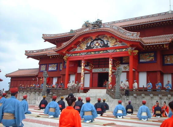 琉球王国の歴史と変遷用の説明写真「首里城前」
