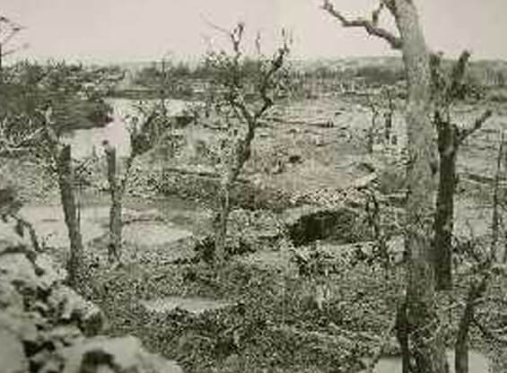 沖縄戦による災禍用の説明写真「戦後の焼け野原」