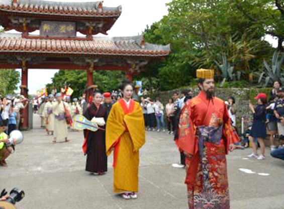 琉球王朝祭り首里…古式行列